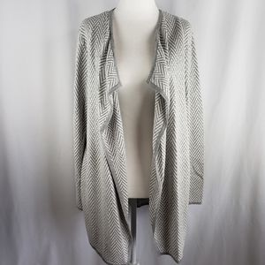 Vince Camuto Silver Heather Open Cardigan M